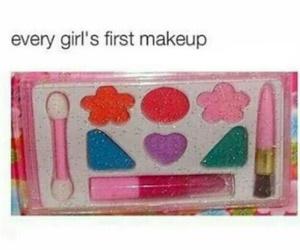 girl, makeup, and funny image