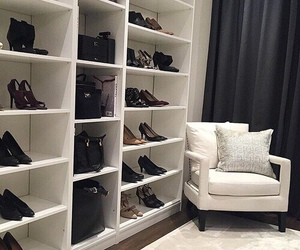 closet, luxury, and shoes image