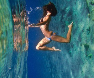girl, ocean, and under water image