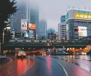 city, car, and japan image