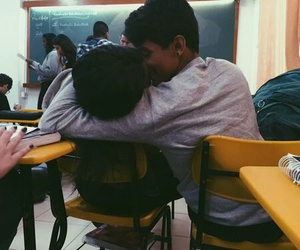 couple, love, and school image