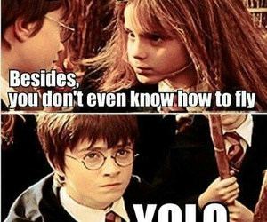 harry potter, yolo, and funny image