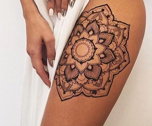 tattoo, mandala, and nails image