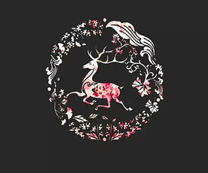 Dream, pink, and reindeer image