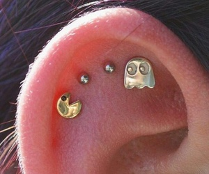 accessories, earrings, and piercing image