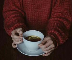 tea, sweater, and lemon image