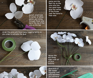 diy, Paper, and orchide image