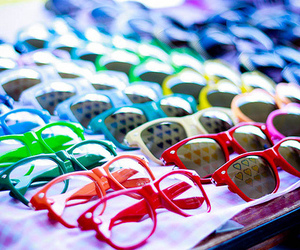 glasses, sunglasses, and colorful image