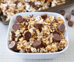 chocolate, food, and popcorn image