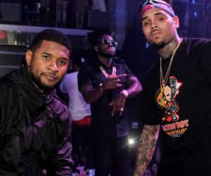 black, chris brown, and party image