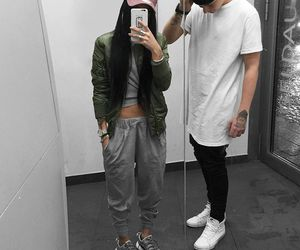 couple, fashion, and boy image