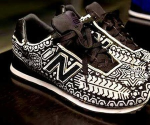 black and white, shoes, and newbalance image