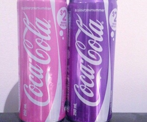 pink, purple, and coca cola image