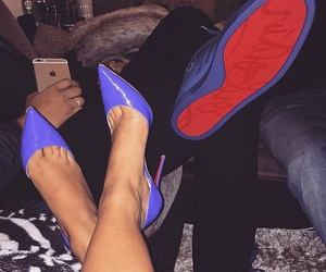 couple, louboutin, and shoes image