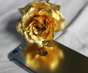 golden, iphone, and rose image