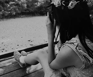 asia, black and white, and vintage image