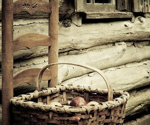 basket, rustic, and chair image