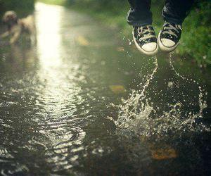 water, rain, and converse image