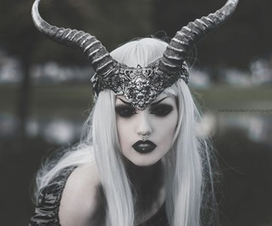gothic makeup and ghost skin image
