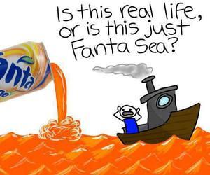 fanta, funny, and sea image