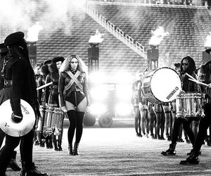 black and white, queen b, and halftime image