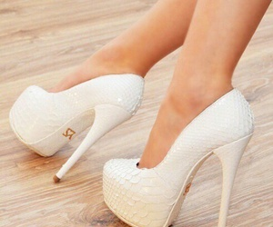 beautiful, white shoes, and love them image