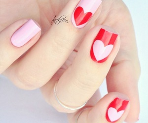 heart, lovely, and nail art image