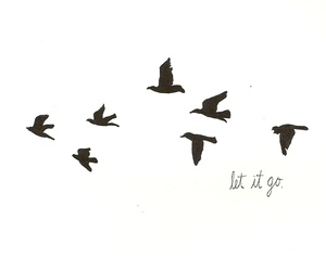 let go and text image
