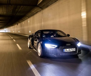 audi r8, car, and lights image