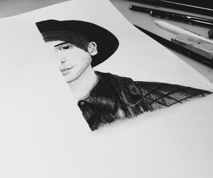 alex gaskarth, all time low, and art image