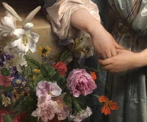 art, detail, and flowers image