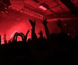 red, concert, and aesthetic image