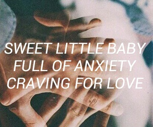 anxiety, quotes, and couple image