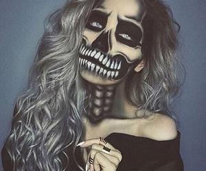 Halloween, makeup, and skeleton image