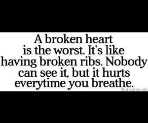 hurt, broken, and heart image