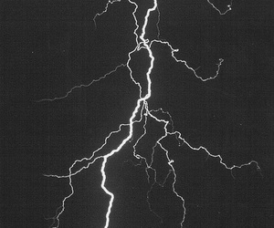 lightning, storm, and black image