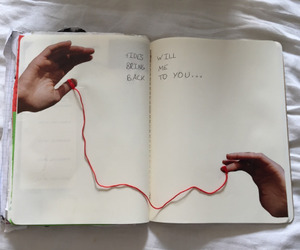 art, book, and red image