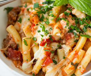 cheese, tomato, and pasta image