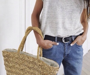 boyfriend jeans, longhair, and summer style image