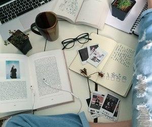 book, tumblr, and coffee image