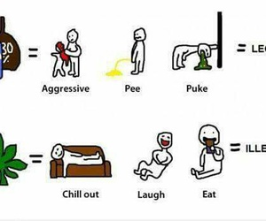 weed, alcohol, and legal image