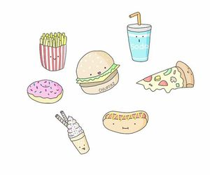 donut, food, and draw image