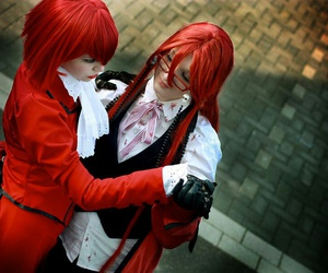 dance, shinigami, and red hair image