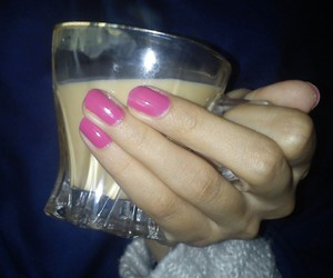 cup, nails, and tea image
