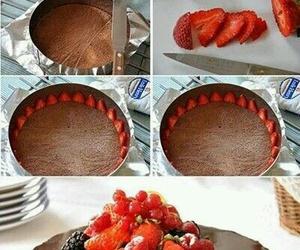 diy, strawberry, and cake image