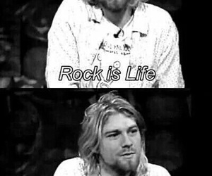 rock, nirvana, and kurt cobain image