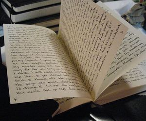 artistic, book, and journal image