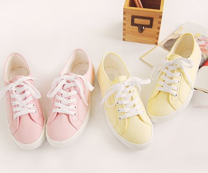 pink, shoes, and yellow image