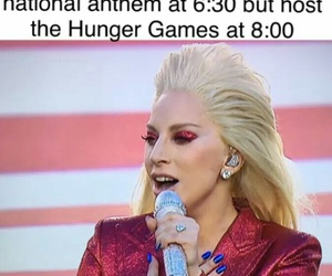 Lady gaga, hunger games, and funny image