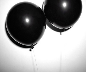 black, balloons, and grunge image